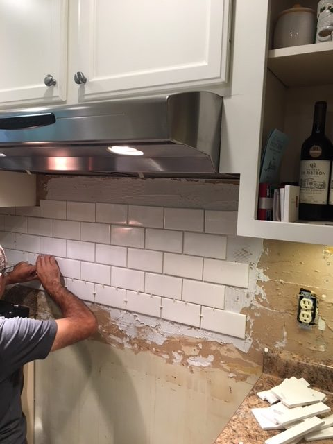Subway Tile Backsplash DIY: My Home