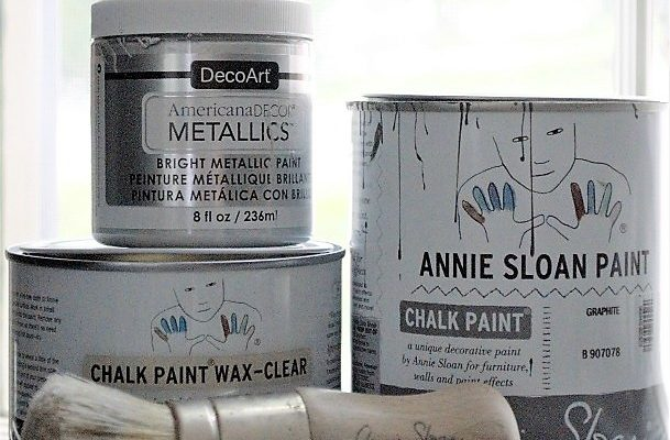 Charcoal Metallic Bench with Video Tutorial