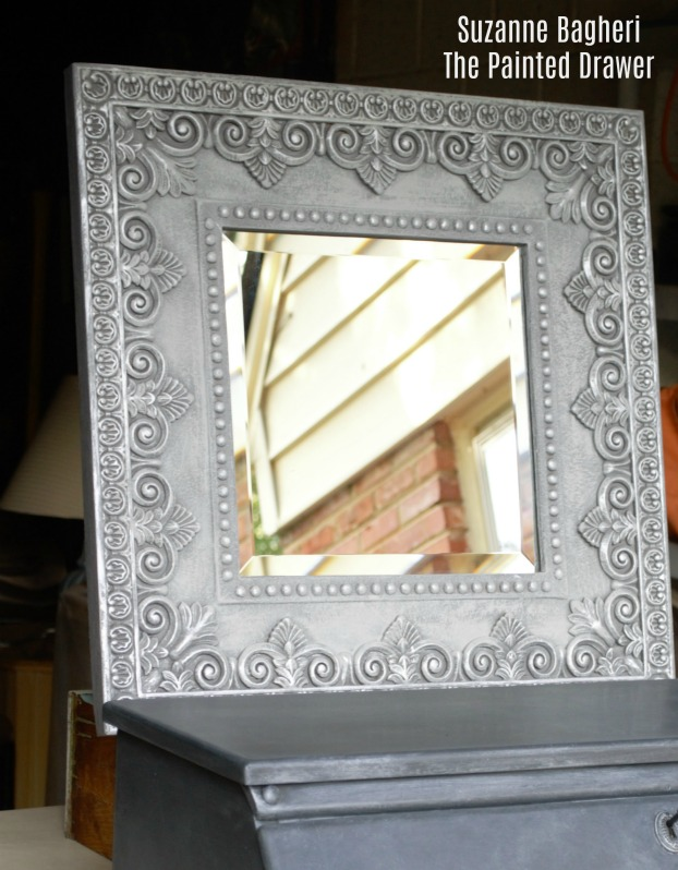 Charcoal Metallic Desk and Mirror Total Makeover