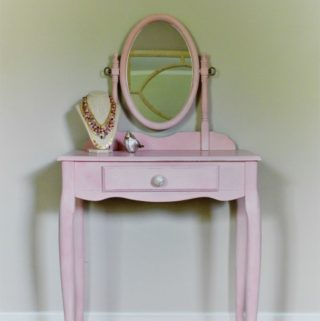 Pink Vanity Before and After