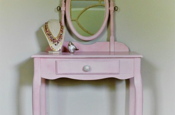 The Power of Pink and a Painted Pink Vanity, Before and After