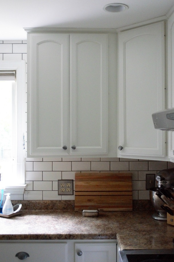 Subway Tile Backsplash Update