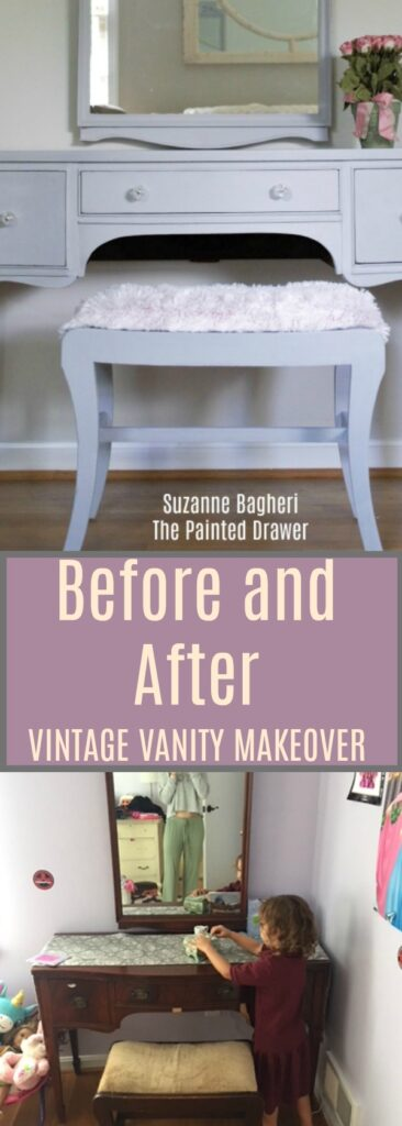 Vintage Vanity and Bench Makeover