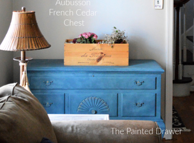 French Cedar Chest in Aubusson