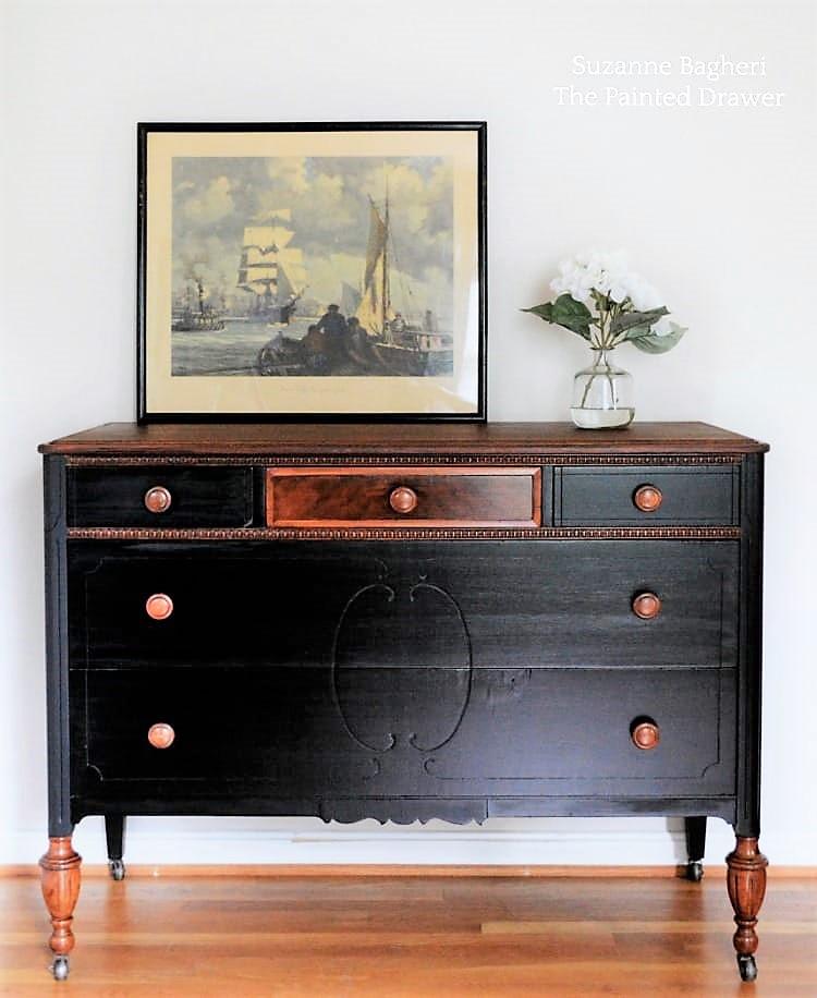 Classic Black Dresser
