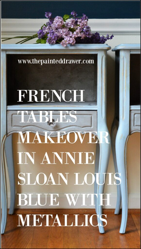 French Tables Makeover in chalk paint
