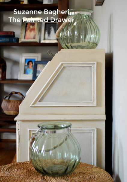 Vintage Desk Makeover in Chalk Paint