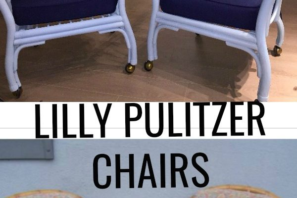 Lilly Pulitzer Inspired Craigslist Chairs Makeover