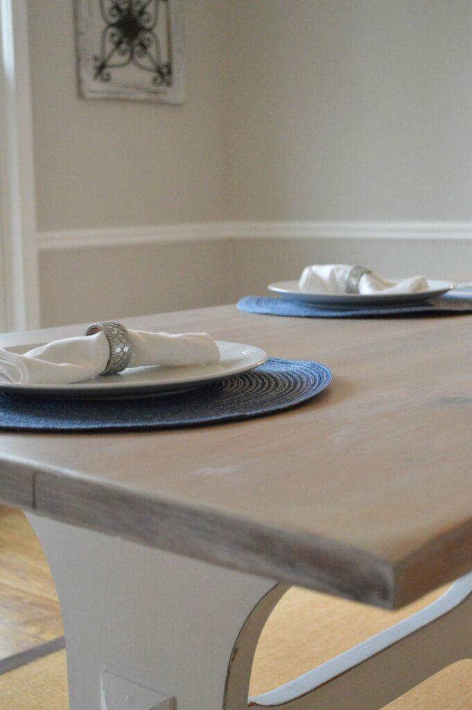 Whitewashed Farmhouse Table