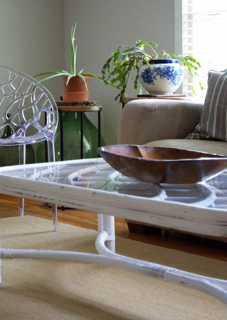 1970's Bamboo Table Makeover Plus Bugs Are Out! Summer Pest Tips