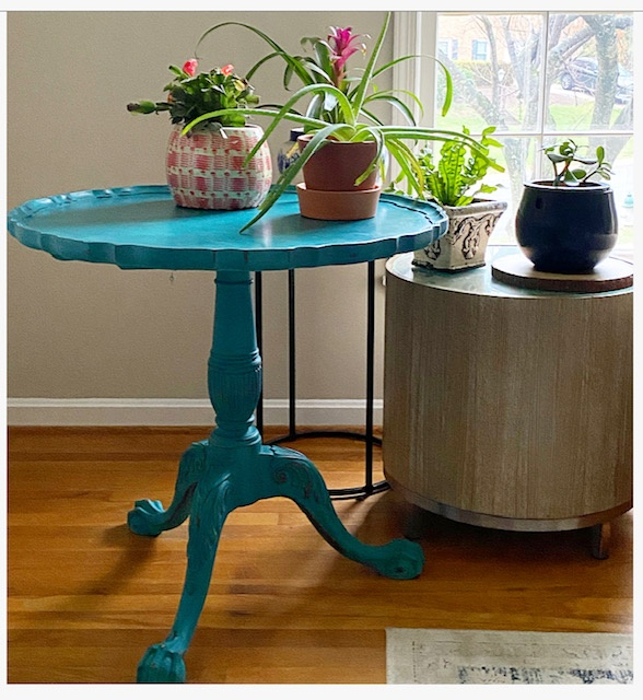 Tea Table Spring Inspired Makeover – Before and After