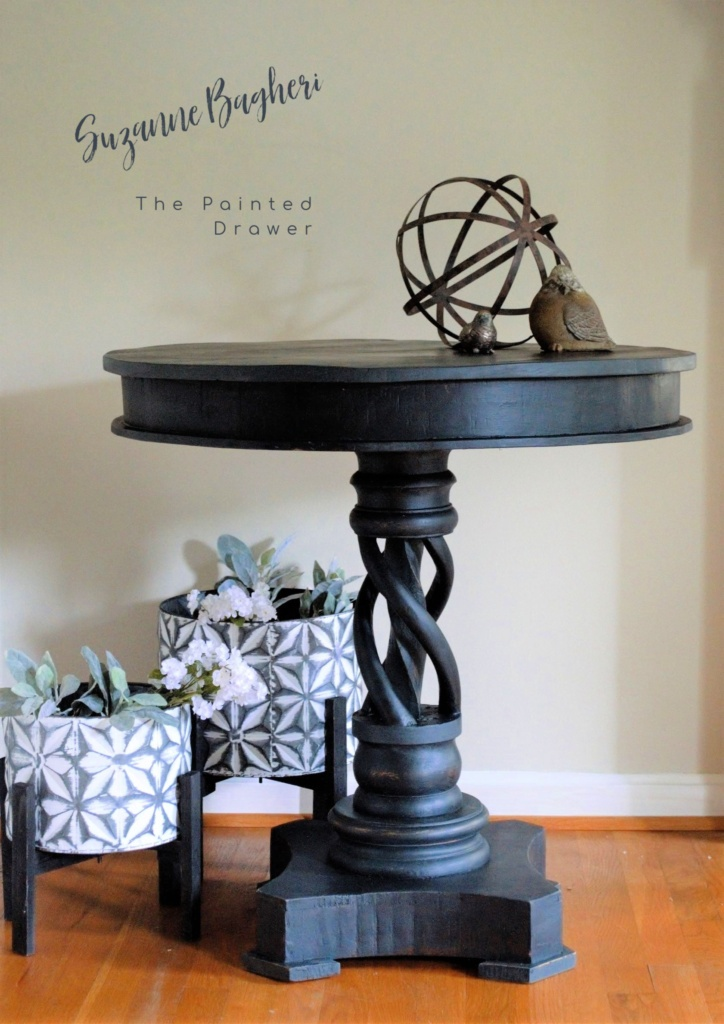 Twisty Table Makeover and Mixing Paints