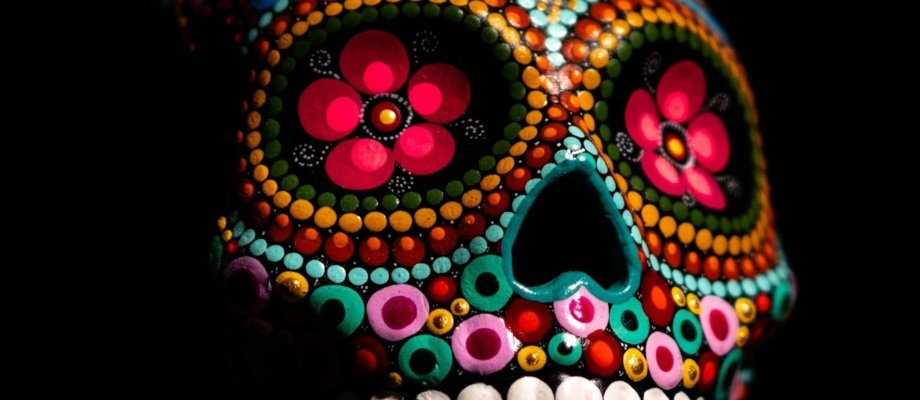 Get Crafty: How To Decorate a Sugar Skull & Sponge Painting Terracotta Pots