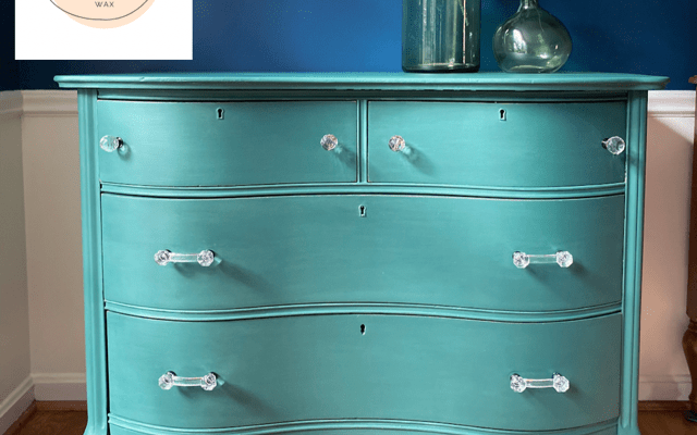 Painted Dresser in Palmetto Green – Before and After